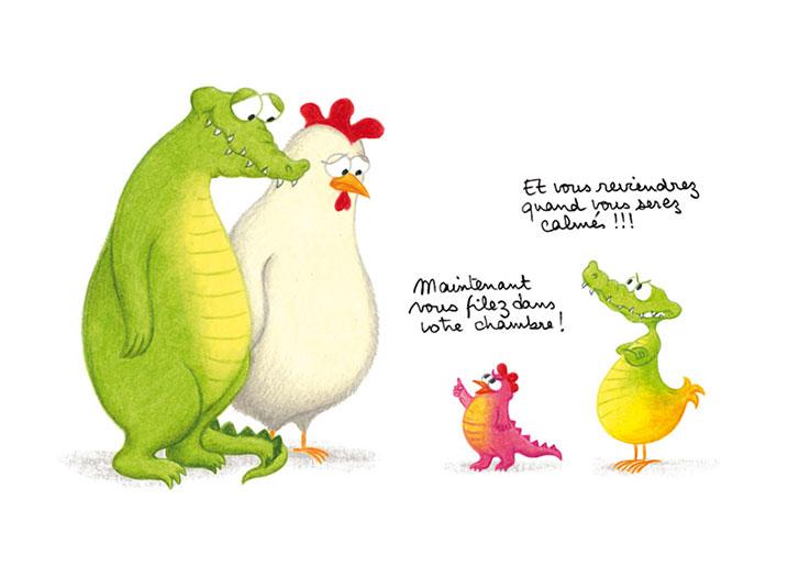 Les personnages créés par Claudine Morel.